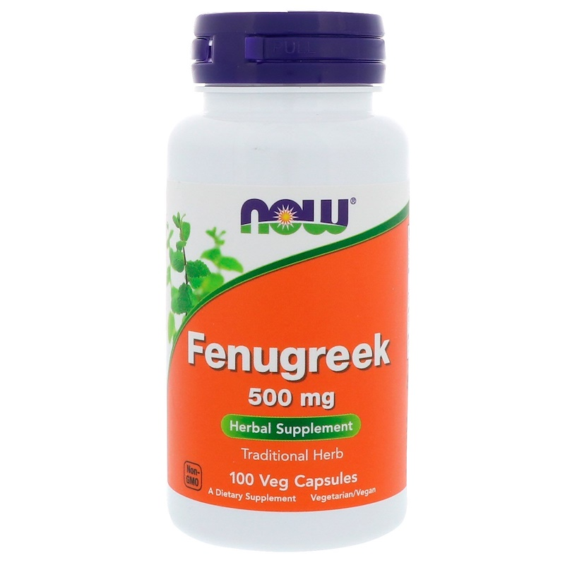 Fenugreek, 500 mg, 100 Veg Capsules