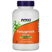 Now Foods, Fenugreek, 500 mg, 250 Veg Capsules