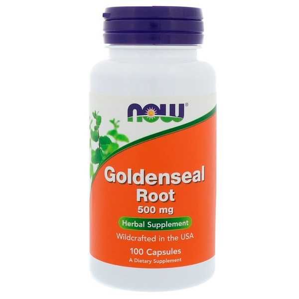 Now Foods, Goldenseal Root, 500 mg, 100 Capsules