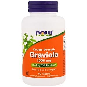 Now Foods, Graviola, Double Strength, 1,000 mg, 90 Tablets отзывы покупателей