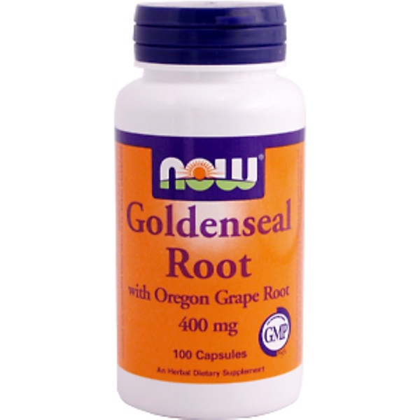 Now Foods, Goldenseal Root, 400 mg, 100 Capsules (Discontinued Item)