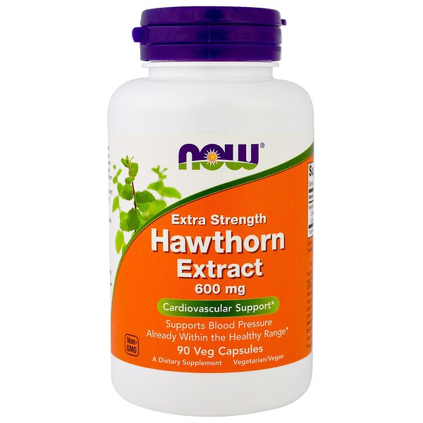 Now Foods, Hawthorn Extract, Extra Strength, 600 mg, 90 Veg Capsules