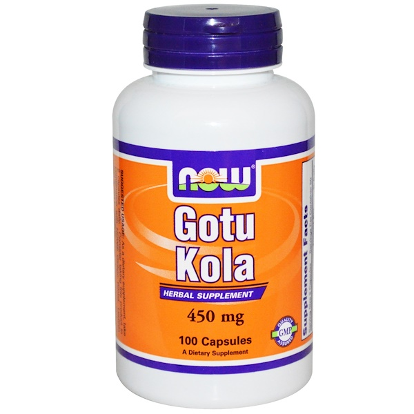 Now Foods, Gotu Kola, 450 mg, 100 Capsules (Discontinued Item)