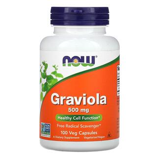 Now Foods, Гравиола, 500 мг, 100 растительных капсул