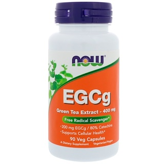 Now Foods, EGCg, Green Tea Extract, 400 mg, 90 Veg Capsules