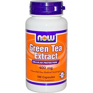 Now Foods, Экстракт зеленого чая, 400 мг, 100 капсул