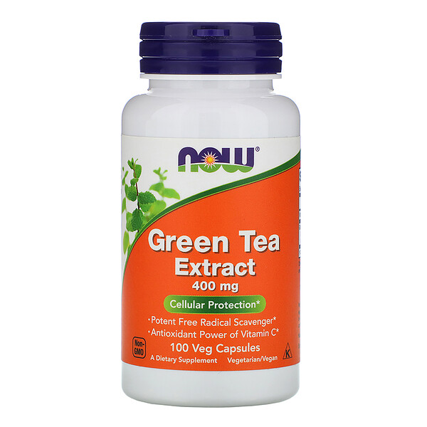 Now Foods, Green Tea Extract, 400 mg, 100 Veg Capsules
