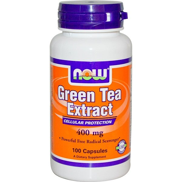 Now Foods, Extracto de té verde, 400 mg, 100 cápsulas