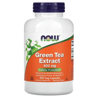 Now Foods, 緑茶エキス、400 mg、250ベジカプセル