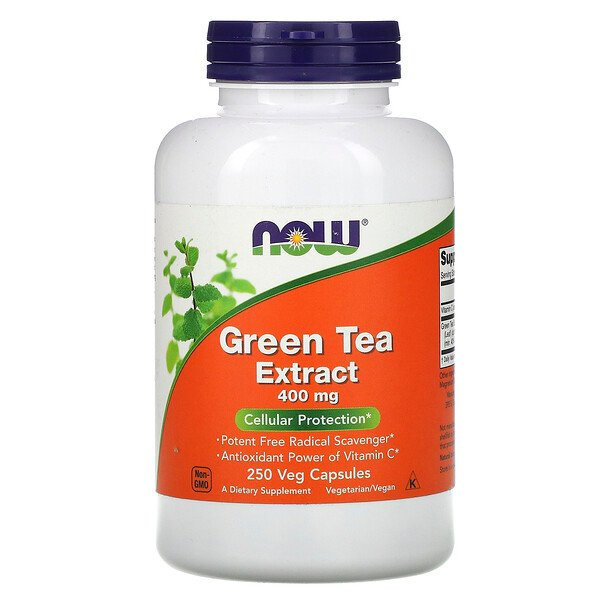 Green Tea Extract, 400 mg, 250 Veg Capsules