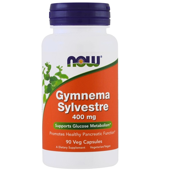 Now Foods, Gymnema Sylvestre, 400 mg, 90 cápsulas vegetales