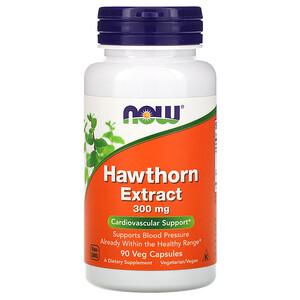 Now Foods, Hawthorn Extract, 300 mg, 90 Veg Capsules отзывы покупателей
