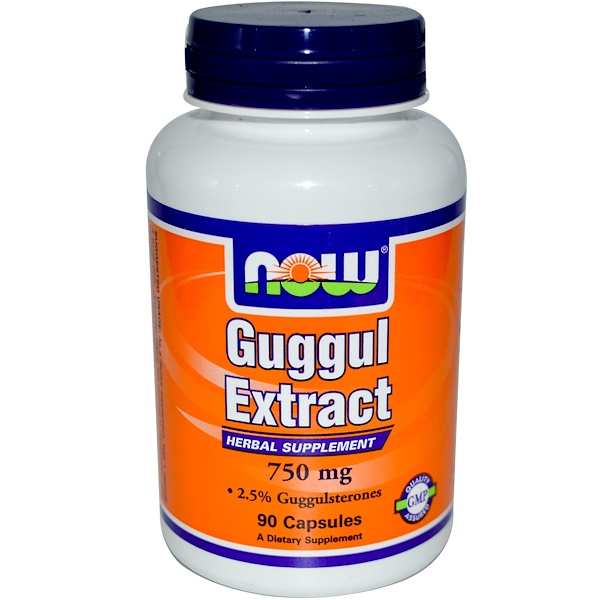 Now Foods, Guggul Extract, 750 mg, 90 Capsules (Discontinued Item)