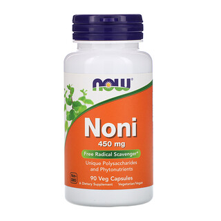 Now Foods, Noni, 450 mg, 90 Veg Capsules