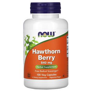 Now Foods, Hawthorn Berry, 540 mg, 100 Veg Capsules отзывы