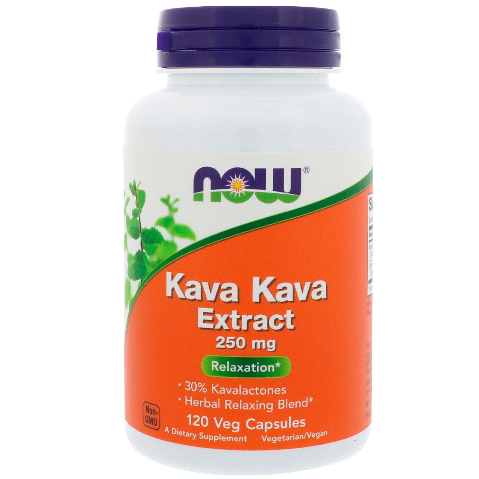 Now Foods, Экстракт кава-кава, 250 мг, 120 вегетарианских капсул