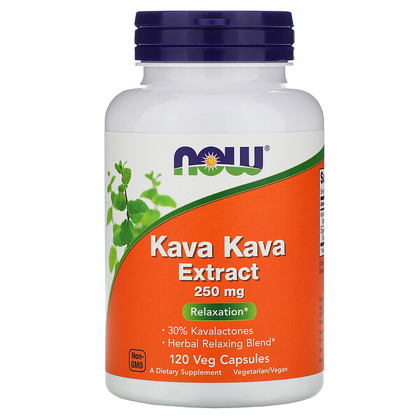 Now Foods, Kava Kava Extract, 250 mg, 120 Veg Capsules