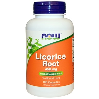 Now Foods, Licorice Root, 450 mg, 100 Capsules