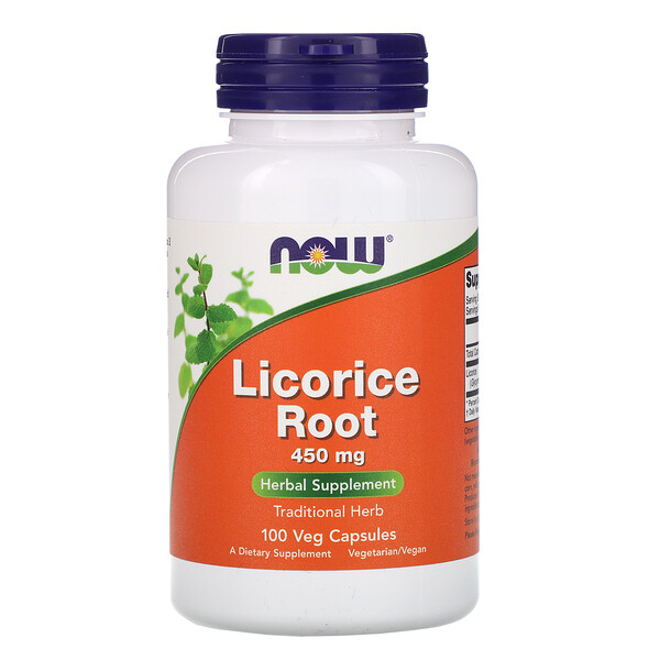 Licorice Root, 450 mg, 100 Veg Capsules