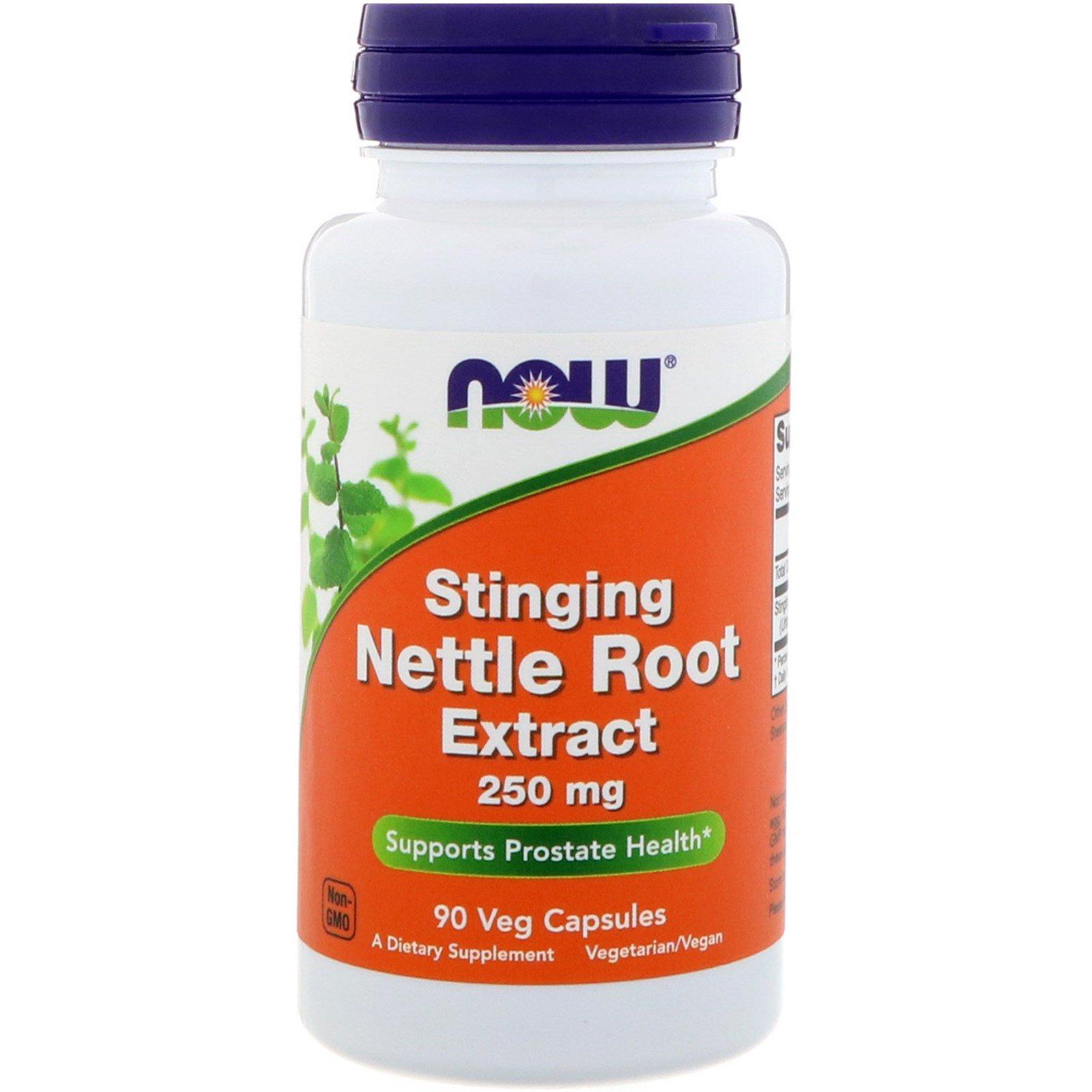 Now Foods, Экстракт корня жгучей крапивы, 250 мг, 90 растительных капсул