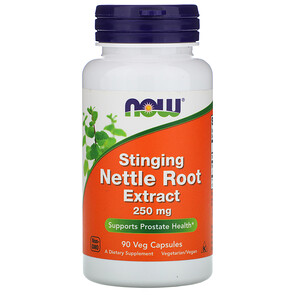 Now Foods, Stinging Nettle Root Extract, 250 mg, 90 Veg Capsules отзывы покупателей