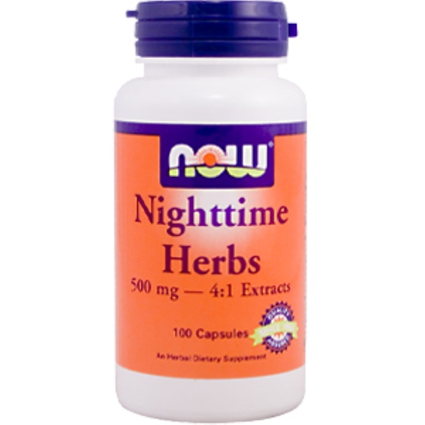 Now Foods, Nighttime Herbs, 100 Capsules (Discontinued Item)