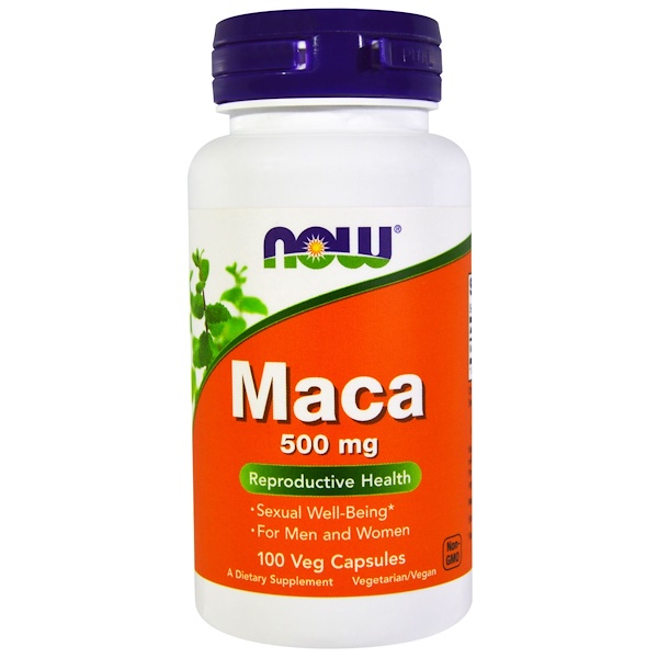 Now Foods, Maca, 500 mg, 100 Cápsulas Vegetarianas