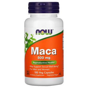 Now Foods, Maca, 500 mg, 100 Veg Capsules отзывы покупателей