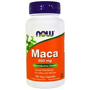 Now Foods, Мака, 500 мг, 100 вегетарианских капсул инструкция, применение, состав, противопоказания