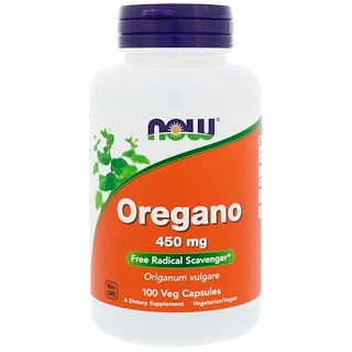 Now Foods, Oregano, 450 mg, 100 Veg Capsules