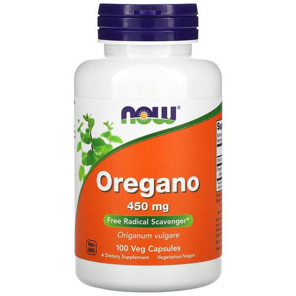 Oregano, 450 mg, 100 Veg Capsules