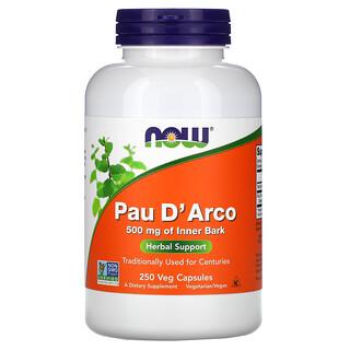 Now Foods, Pau D' Arco, 500 mg, 250 Veg Capsules