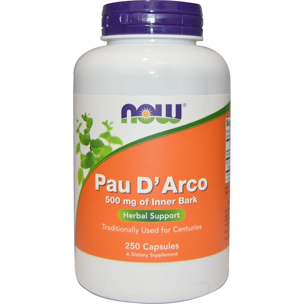 Now Foods, Pau D' Arco, 500 mg, 250 Cápsulas