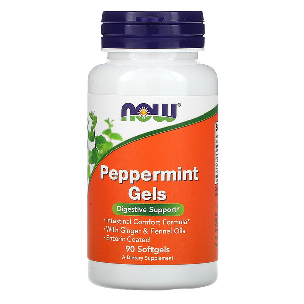 Now Foods, Peppermint Gels, 90 Softgels