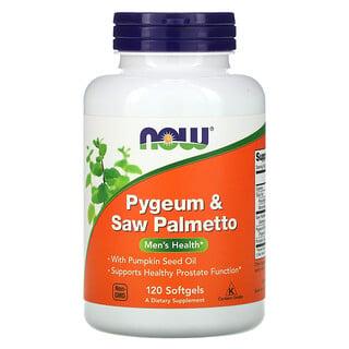 Now Foods, Pygeum & Saw Palmetto, Men's Health, Pygeum und Sägepalmenbeere für die Gesundheit der Männer, 120 Weichkapseln