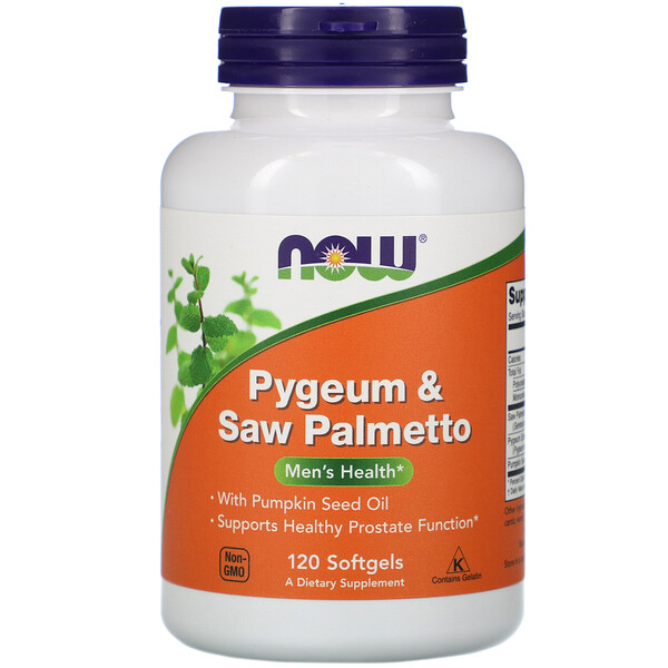 Pygeum & Saw Palmetto, 120 Softgels