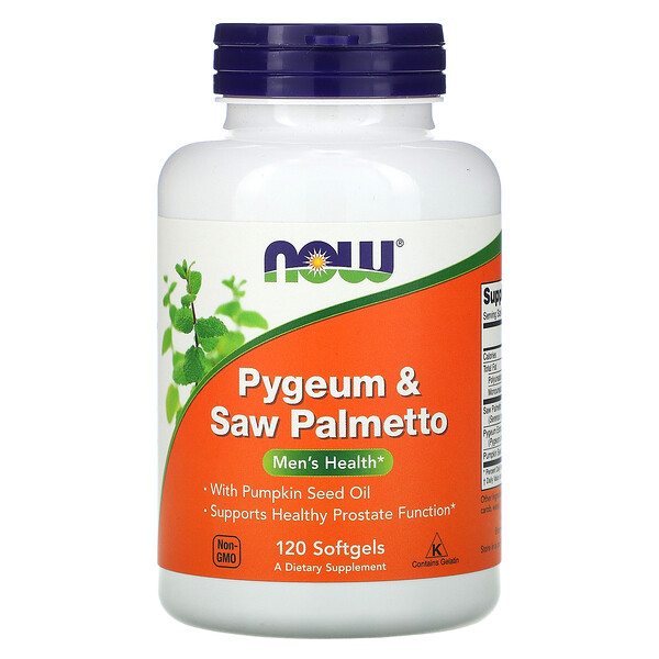 Pygeum & Saw Palmetto, Men's Health, 120 Cápsulas Blandas