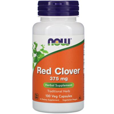 Фото - Red Clover, 375 mg, 100 Veg Capsules hyaluronic acid 50 mg 60 veg capsules