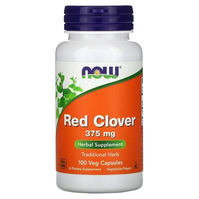 Купить Now Foods красный клевер, 375мг, 100растительных капсул