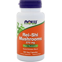 Now Foods, Rei-Shi Mushrooms, 270 mg, 100 Veg Capsules