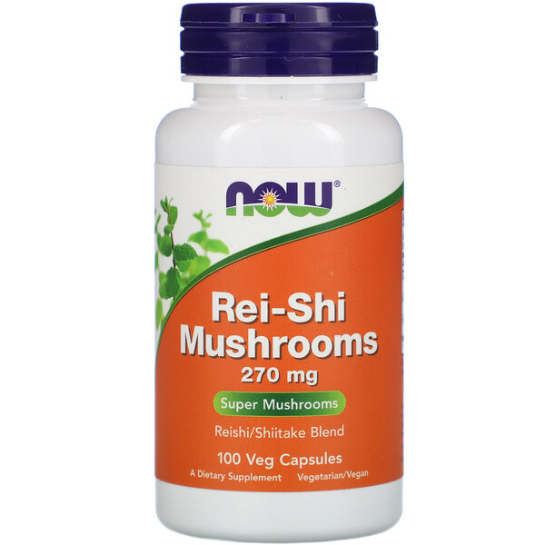 Now Foods, Hongos Rei-Shi, 270 mg, 100 cápsulas vegetales