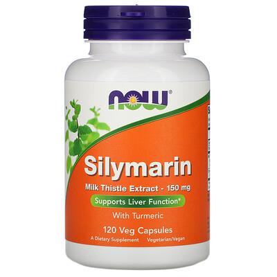 Now Foods Силимарин, экстракт расторопши, 150мг, 120растительных капсул