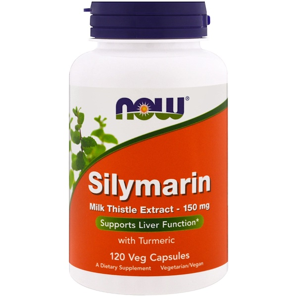 Now Foods, Silymarin, Milk Thistle Extract, 150 mg, 120 Veg Capsules