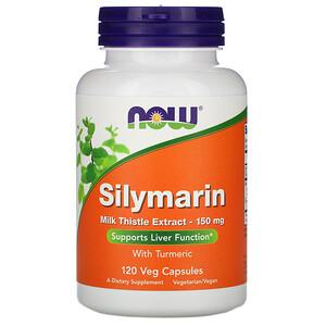 Now Foods, Silymarin, Milk Thistle Extract, 150 mg, 120 Veg Capsules отзывы покупателей
