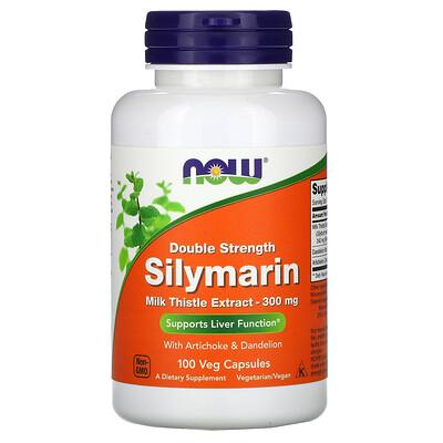 Now Foods силимарин, экстракт расторопши, 300мг, 100растительных капсул