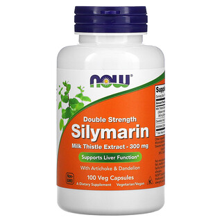 Now Foods, Double Strength Silymarin, 300 mg, 100 Veg Capsules