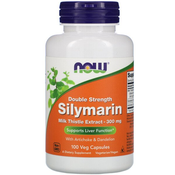 Silymarin, Milk Thistle Extract, 300 mg, 100 Veg Capsules
