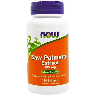 Now Foods Экстракт пальмы сереноа, 160 мг, 120 желатиновых капсул