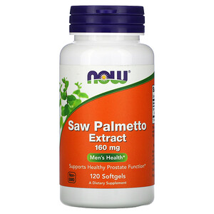 Now Foods, Saw Palmetto Extract, 160 mg, 120 Softgels отзывы покупателей
