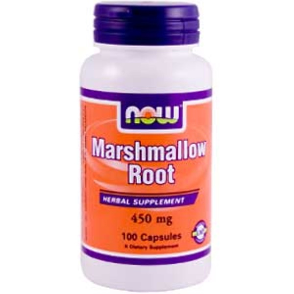 Now Foods, Marshmallow Root, 450 mg, 100 Capsules (Discontinued Item)